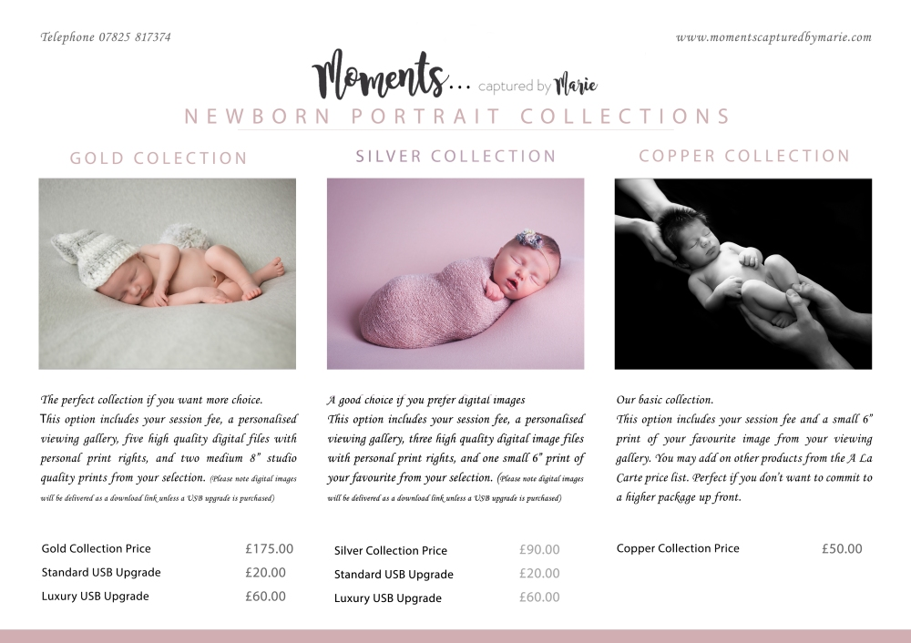 Pricing Collection Guide - newborn